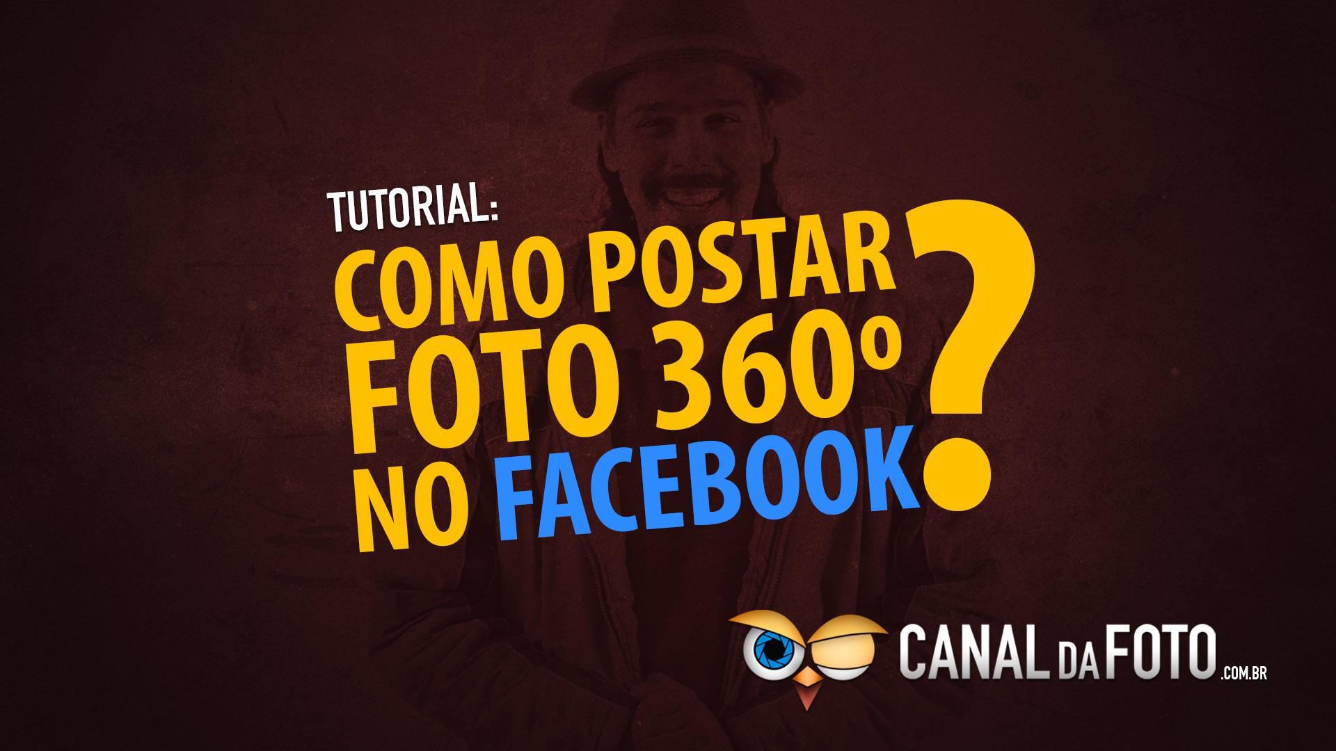 Como inserir fotografia 360 graus no Facebook.