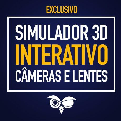 Primeiro simulador 3D interativo de cameras e lentes